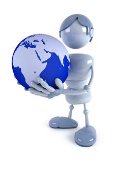 Free Human Hold Globe In The Hands Stock Photo - 8878710