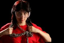 Free Young Woman With Chain Stock Photos - 8879083