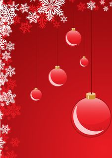 Free Red Christmas Balls Stock Images - 8879204