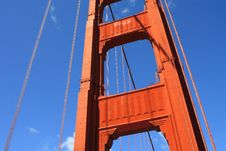 Golden Gate Bridge Tower Royalty Free Stock Images