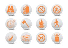 Free Camping Buttons Royalty Free Stock Image - 8879466