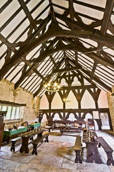 Free Smithills Hall The Great Hall Stock Photo - 88750970