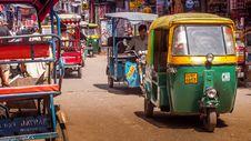 Free Tuk Tuk On Streets Of Delhi, India Royalty Free Stock Photo - 88752235