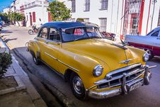 Free Oldtimer Taxi, Cienfuegos, Cuba Royalty Free Stock Photos - 88752358