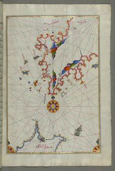Free The Anatolian Coast Facing The Island Of Cos &x28;Stancho, İstanköy&x29; From Book On Navigation, Walters Art Museum Ms. W.658 Royalty Free Stock Photos - 88753178