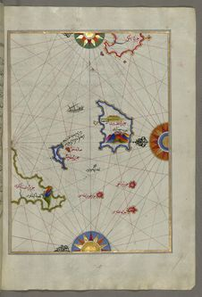 Free Illuminated Manuscript Nisyros &x28;Inǧirlü&x29; Island South Of Cos &x28;Stancho, İstanköy&x29; Island In The Eastern Aeg Stock Photo - 88753340