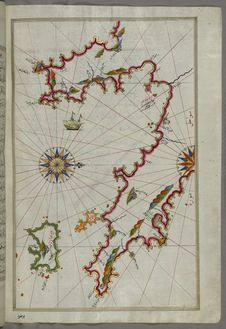 Free Illuminated Manuscript The Peloponnese &x28;Morea, Mora&x29; Peninsula With The Island Of Kythira &x28;Cerigo, Ҫoke&x29; And Stock Images - 88753384