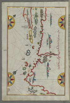 Free Illuminated Manuscript, Map Of The Coastline And The Islands Between Šibenik And Zadar &x28;Zādare&x29; &x28;Croatia&x29; Fr Stock Photo - 88753430