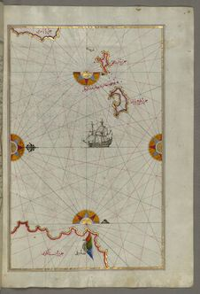 Free Illuminated Manuscript Two Small Islands Between Amorgos &x28;Yamurgi&x29; And Cos &x28;Stancho, İstanköy&x29; In The Easter Royalty Free Stock Photo - 88753445