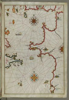 Free Illuminated Manuscript, Western Part Of The Peloponnese &x28;Morea, Mora&x29; Peninsula Opposite The Zakynthos &x28;Zante, Zāk Stock Images - 88753474