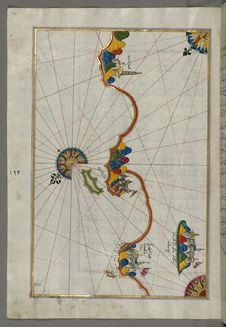 Free Illuminated Manuscript, Map Of The Italian Coast Around Around Peschici North Of Mafredonia From Book On Navigation, Walters Art M Stock Images - 88753494