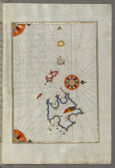 Free Illuminated Manuscript, Map Of Two Unnamed Islands Between Dubrovnik And Split &x28;Croatia&x29; From Book On Navigation, Walter Royalty Free Stock Image - 88753536