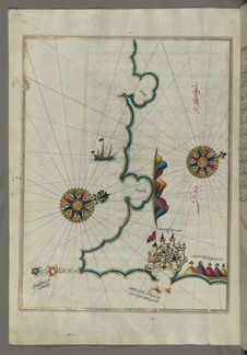 Free Illuminated Manuscript, Map Of The Coast North Of The Medulin Fortress &x28;Croatia&x29; From Book On Navigation, Walters Art Mu Royalty Free Stock Photos - 88753548
