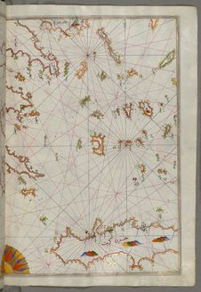 Free Illuminated Manuscript The Cyclades &x28;Kikladhes&x29; Islands Between The Peloponnese &x28;Morea, Mora&x29; Peninsula And Cr Royalty Free Stock Image - 88753556