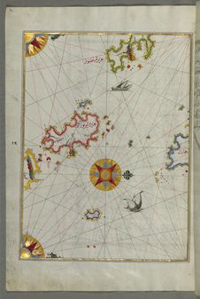 Free Illuminated Manuscript, The Island Of Leros &x28;Līryūs&x29; In The Eastern Aegean Sea, From Book On Navigation, Walters Art M Stock Images - 88753604
