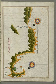 Free Illuminated Manuscript, Map Of Unidentified Islands Off The Southern Anatolian Coast From Book On Navigation, Walters Art Museum Stock Photo - 88753660