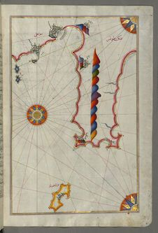 Free Illuminated Manuscript, Map Of The Tunisian Coast With The Cities Of Kelibia &x28;Qalabīyah&x29;, Hammamet &x28;Ḥammāmāt& Royalty Free Stock Photo - 88753705