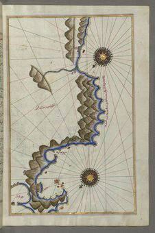 Free Illuminated Manuscript, Map Of Unidentified Islands Off The Southern Anatolian Coast From Book On Navigation, Walters Art Museum M Royalty Free Stock Photography - 88753707
