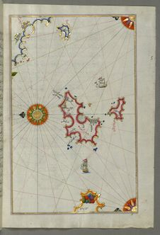 Free Illuminated Manuscript, Map Of Two Islands Off Majorca: Ibiza &x28;Yūse&x29; And Formentera From Book On Navigation, Walters Ar Royalty Free Stock Photography - 88753747