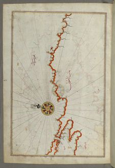 Free Illuminated Manuscript, Map Of The Coast Of The Black Sea From Istanbul To Geresun From Book On Navigation, Walters Art Museum Ms. Royalty Free Stock Photos - 88753798