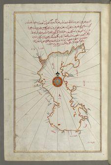 Free Illuminated Manuscript, Map Of The Caspian Sea &x28;Baḥr-i Khazar&x29; From Book On Navigation, Walters Art Museum Ms. W.658, Stock Photography - 88753802