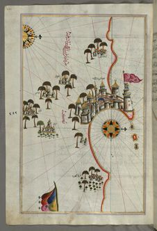 Free Illuminated Manuscript, Map Of The Fortress Of Tripoli &x28;Ṭarābulus-i Maghrib&x29; And The Surrounding Area From Book On Na Royalty Free Stock Photography - 88753807