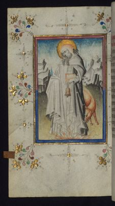 Free Illuminated Manuscript, Book Of Hours, St. Anthony, Walters Art Museum Ms. W.165, Fol. 116v Stock Image - 88753851