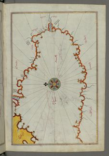 Free Illuminated Manuscript, Map Of The Coast Line Of The Black Sea From Book On Navigation, Walters Art Museum Ms. W.658, Fol.371b Stock Image - 88753891