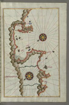 Free Illuminated Manuscript, Map Of Unidentified Islands Off The Southern Anatolian Coast From Book On Navigation, Walters Art Museum Royalty Free Stock Photos - 88753908