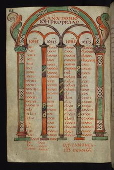 Free Illuminated Manuscript, Gospels Of Freising, Canon Tables, Walters Art Museum Ms. W.4, Fol. 32v Stock Image - 88753931