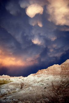 Free Badlands With Dark Skies Royalty Free Stock Photography - 88755477