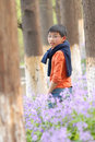 Free Chinese Boy Standing In The Grove Royalty Free Stock Photo - 8885905