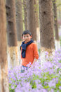 Free Asian Boy Standing In The Bloom Stock Images - 8885914