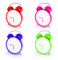 Free Bright Plastic Alarm Clocks Stock Image - 8886161