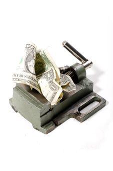 Free Dollar Under Pressure Stock Image - 8880601