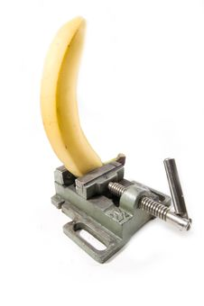 Banana Under Pressure Stock Photos