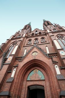 Free Church With An Icon On The Façade Stock Photo - 8880790