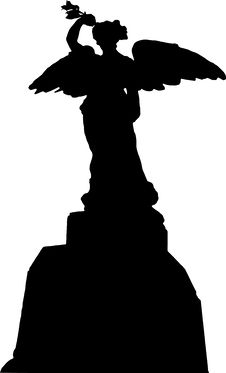Free World War II Memorial Silhouette Royalty Free Stock Photography - 8881437