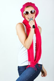 Free Singing Young Woman Stock Photos - 8881523