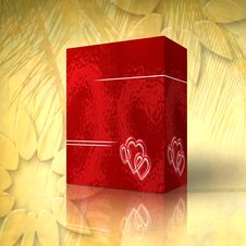 3d Valentine S Day Box Stock Images