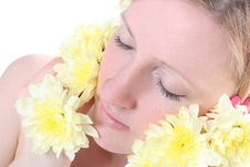 Free Face And Flowers Stock Image - 8883031