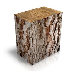 Square Trunk Of Tree Royalty Free Stock Images