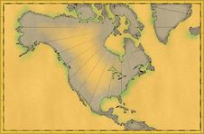 Old World Map Stock Photography
