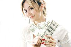 Free Money Woman Stock Photo - 8885710