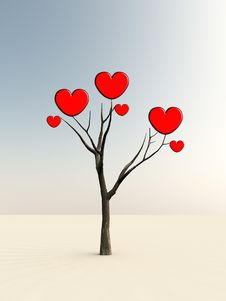 Free The Tree Of Love Stock Photography - 8885982