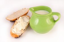 Free Bread, Butter And Milk Stock Images - 8886064