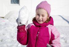 Free Game Of Snowballs Royalty Free Stock Image - 8886086