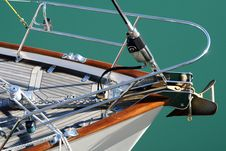Free The Bow Of A Yacht Stock Photo - 8886840