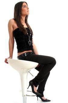 Free Sitting Woman Royalty Free Stock Image - 8887036