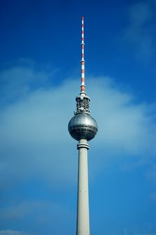 Free TV  Tower In Berlin In  Blue Sky Stock Photo - 8887060